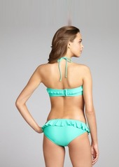 Shoshanna seafoam ruffle trimmed hipster bikini bottom