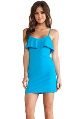 Susana Monaco Ruffle Top Gwen Dress in Blue