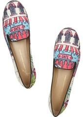 Giuseppe Zanotti Printed chambray slippers