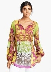 Jean Paul Gaultier Patchwork Print Tulle Tunic
