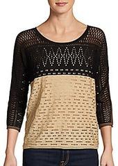 Catherine Malandrino Francesca Two-Tone Sweater