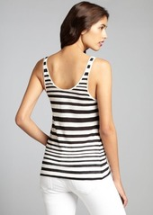 French Connection black and white striped cotton tank top