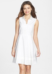 French Connection Cotton Fit & Flare Shirtdress