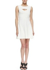 French Connection Feather Ruth Cutout Fit-And-Flare Dress