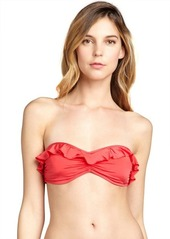 French Connection Persistant Pink ruffle trimmed 'Frilly Fancy' bandeau top
