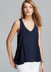 FRENCH CONNECTION Tank - Polly Plains Peplum