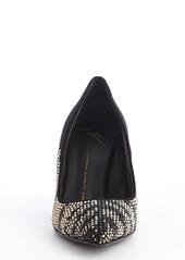 Giuseppe Zanotti black studded point toe 'Ester 80' suede pumps