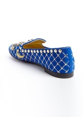 Giuseppe Zanotti klein suede jewel and brass studded flats
