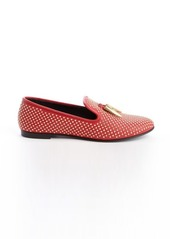Giuseppe Zanotti red studded 'Dalila' leather loafers