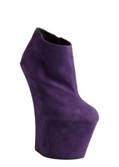 Giuseppe Zanotti violet suede sculpted wedge ankle boots