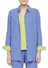 Go Silk Easy-Fit Colorblock Silk Shirt  Easy-Fit Colorblock Silk Shirt
