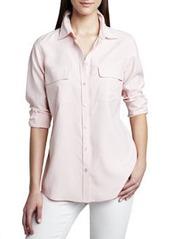 Go Silk Safari Long-Sleeve Silk Shirt, Petite