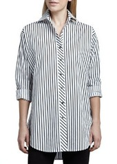 Go Silk Striped Big Shirt