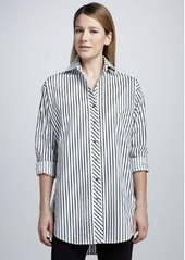 Go Silk Striped Big Shirt, Petite