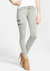 Hudson Jeans Zip Detail Super Skinny Crop Jeans (Washed Forest)