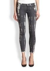 Hudson Krista Super Skinny Printed Jeans