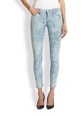 Hudson Nico Bleached Python-Print Skinny Jeans