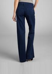 James Jeans indigo stretch denim 'Fly Boy' flare leg trouser jeans