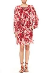 Jean Paul Gaultier Printed Drop-Waist Tulle Dress