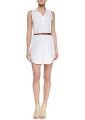 Joie Darlena Sleeveless Belted Cotton Shirtdress