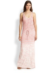 Soft Joie Emilia Faded-Stripe Jersey Maxi Dress