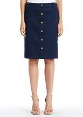 Stretch Cotton Safari Skirt