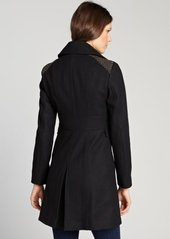 Kenneth Cole New York black wool blend stud embellished button front jacket