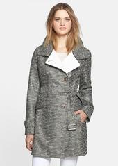 Kenneth Cole New York Metallic Tweed Trench Coat