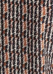 Lafayette 148 New York 'Opal - Harvest Check' Print Silk Blouse