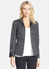 Lafayette 148 New York 'Raleigh' Faux Leather Trim Jacket (Regular & Petite)