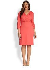 Lafayette 148 New York, Sizes 14-24 Surplice Dress