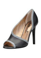 Lanvin Peep-Toe d'Orsay Pump, Black/Gray