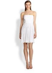 Laundry by Shelli Segal Eyelet Lace Dress