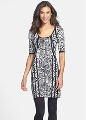 Laundry by Shelli Segal Mixed Animal Pattern Sweater Dress