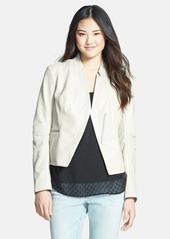 Laundry by Shelli Segal Peplum Back Cutaway Leather Jacket