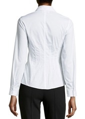 Laundry by Shelli Segal Poplin Hook-and-Eye Blouse