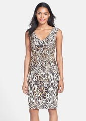Laundry by Shelli Segal Print Ponte Sheath Dress