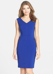 Laundry by Shelli Segal Seamed Stretch Crepe Dress