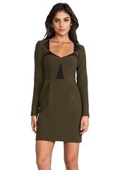 Nanette Lepore RUNWAY Ultra Ray Crepe Transporter Dress in Olive