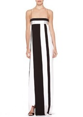Narciso Rodriguez Striped Empire-Waist Gown