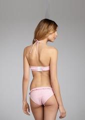 Shoshanna carnation gingham ruffle trimmed hipster bikini bottom