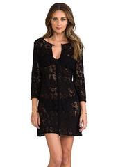 Shoshanna Fresia Lace Tunic in Black