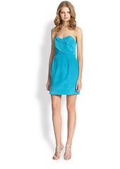 Shoshanna Kira Strapless Bengaline Cocktail Dress