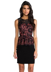 Shoshanna Lace Combo Celeste Dress in Black