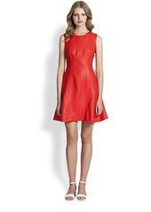 Shoshanna Naama Lacquered Tweed Dress