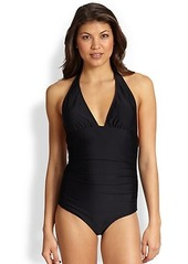 Shoshanna One-Piece Ruched Swimsuit