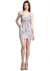 Shoshanna white and pink paisley print silk 'Mia' spaghetti strap day dress
