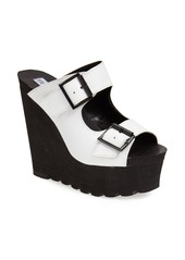 Steve Madden 'Buckle Up' Platform Wedge Sandal (Women)