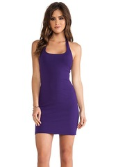 Susana Monaco Halter Mini Dress in Purple