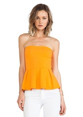 Susana Monaco Leila Strapless Top in Orange